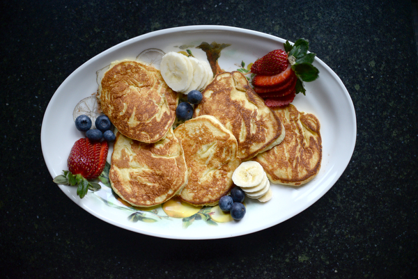 Rosemarie Aquilina, 30th Circuit Court Judge, cooks ricotta pancakes