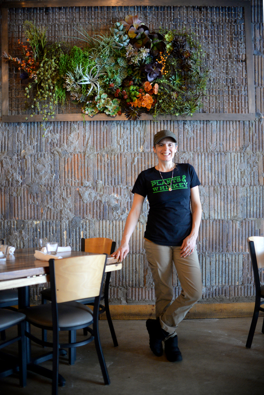 Amber Poupore, 40, of Detroit, is the head of the kitchen at GreenSpace Cafe in Ferndale.