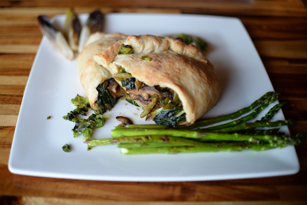 Spring vegetable calzone made at GreenSpace Cafe in Ferndale. Wednesday, February 13, 2019. (Photo by Viviana Pernot)