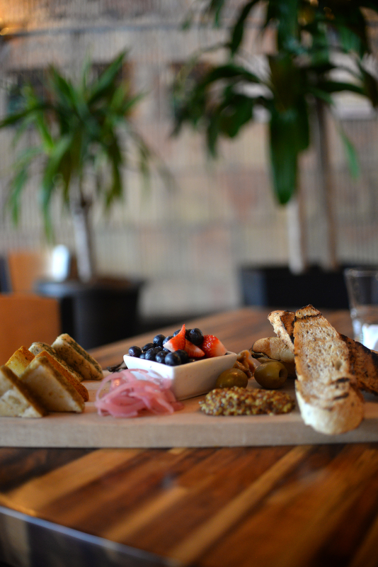 The farm board served at GreenSpace Cafe in Ferndale.