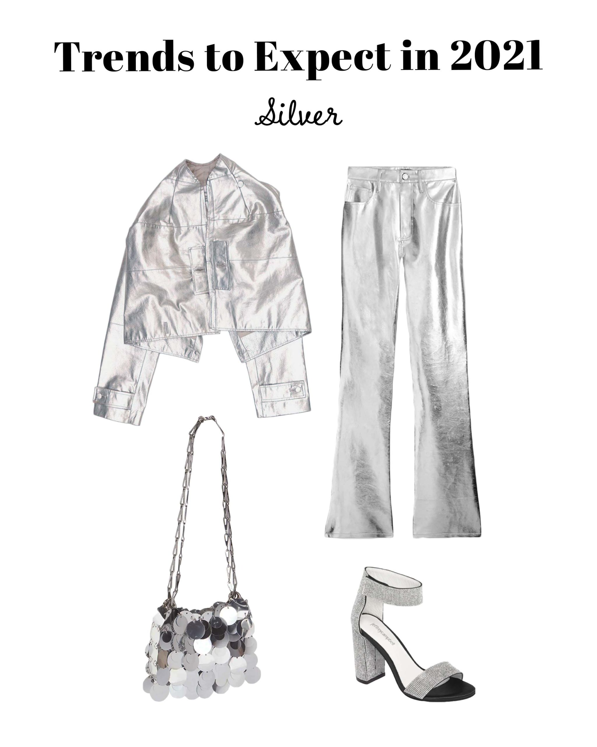 silver clothing