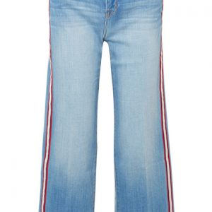 L'Agence Danica Striped High Rise Wide Leg Jeans