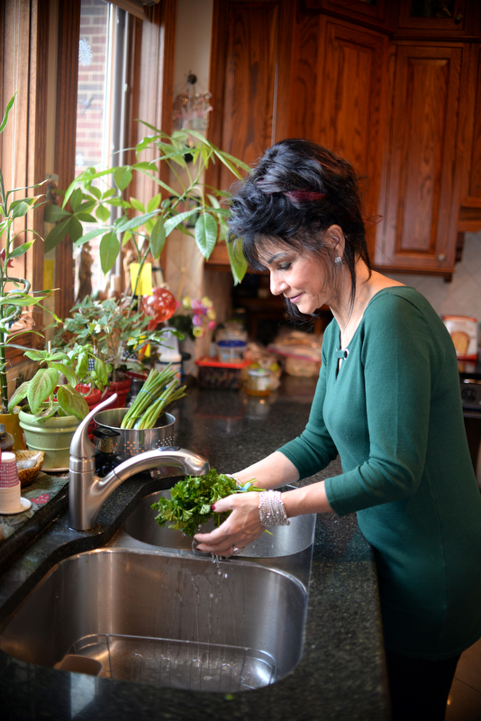 Rosemarie Aquilina, Judge of the 30th circuit court in Ingham Country, in her kitchen. Saturday December 8, 2018. (Photo by Viviana Pernot)