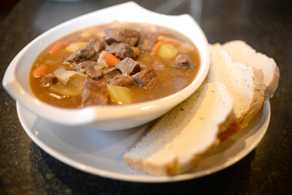 Beef, vegetable and potatoe stew made by Rosemarie Aquilina, Judge of the 30th circuit court in Ingham Country. Saturday December 8, 2018. (Photo by Viviana Pernot)