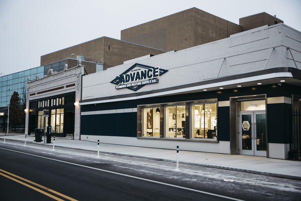 Advance Plumbing and Heating Supply Company's new showroom is located in midtown Detroit. There's also a location in Walled Lake.