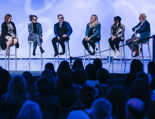 Panelists speak at Be the Spark — Women Inspiring Innovation presented by General Motors Women on Monday, Mar. 25, 2019 at the GM Tech Center Design Dome in Warren, Mich.