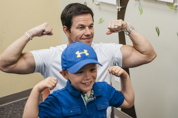 Mark Wahlberg at Beaumont Children's Hospital