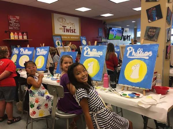 Painting with a Twist kids birthday party