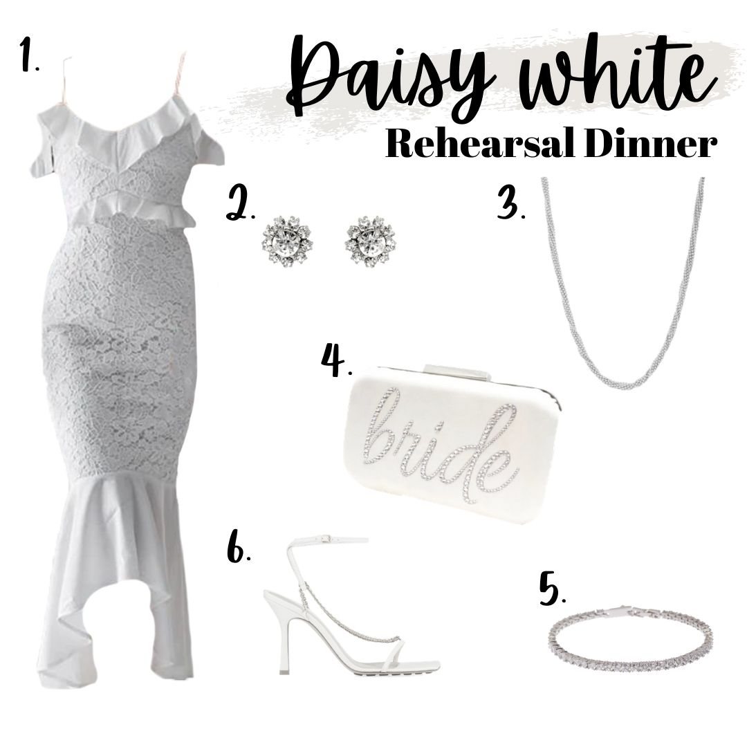 white wedding outfit