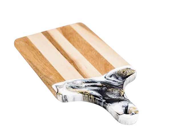 Black, white and gold cheese board