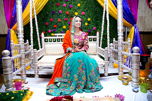 Bride Reham Khan at the mehndi ceremony
