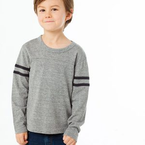 Chaser Boys Triblend L/S Crew Neck Tee W/ Triblend Strappings