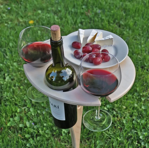 COLLAPSIBLE WOOD WINE TABLE