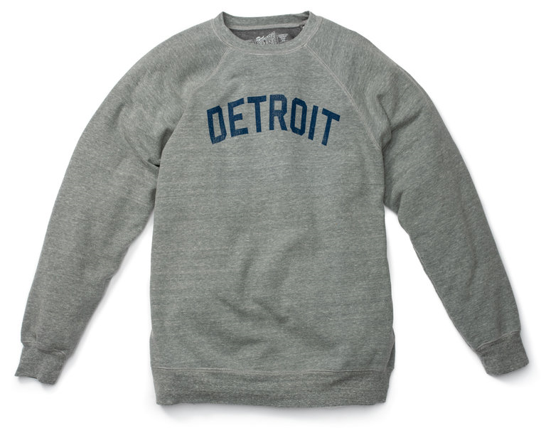 Men's Detroit fleece crewneck sweatshirt from Caruso Caruso