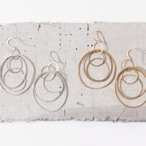 Concentric hoop earrings