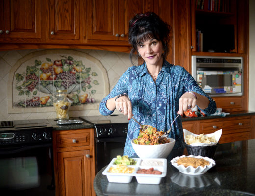 30th Circuit Court Judge Rosemarie Aquillina in her kitchen making Taco Salad. Sunday, March 3, 2019. (Photo by Viviana Pernot)