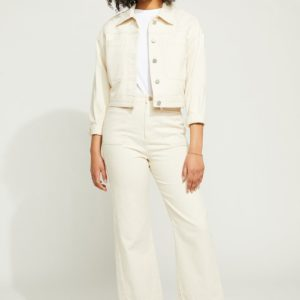 Gentle Fawn Bianca White wide leg pant.