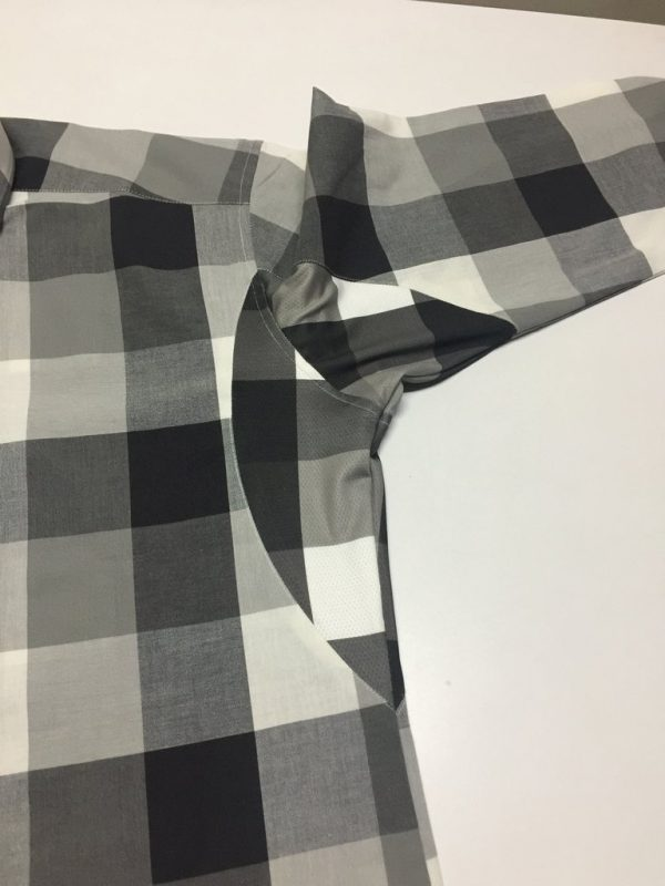 """Aubin""- Black and Gray Check: No Sweat Dress Shirt"
