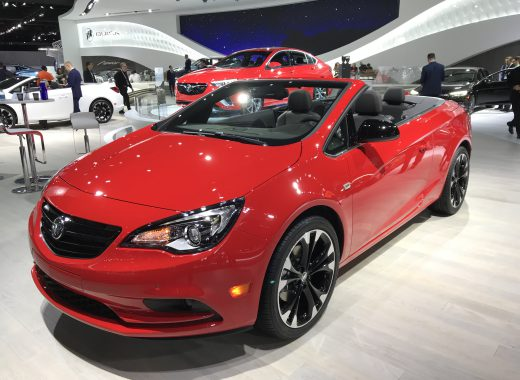 One of the new cars by Buick at the 2018 North American International Auto Show.