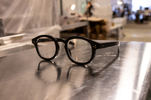A pair of black eyeglasses from Genusee