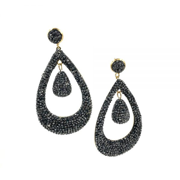 Ashley Gold Stainless Steel Gold Plated Drop Earrings