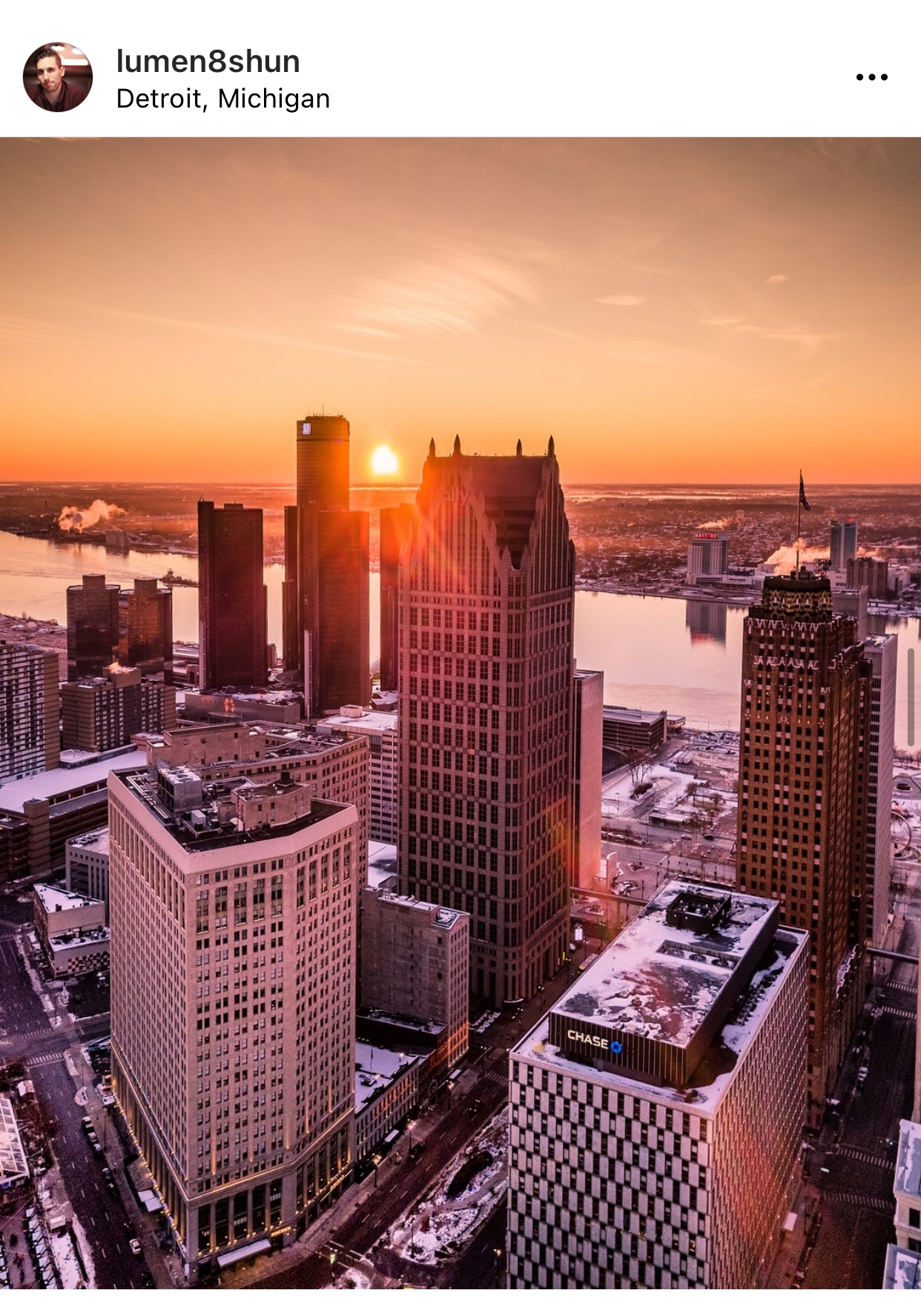 Detroit sunrise