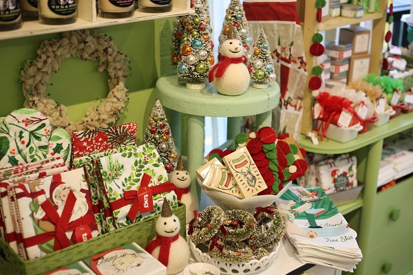 Assorted holiday decorations available at Green Daffodil.