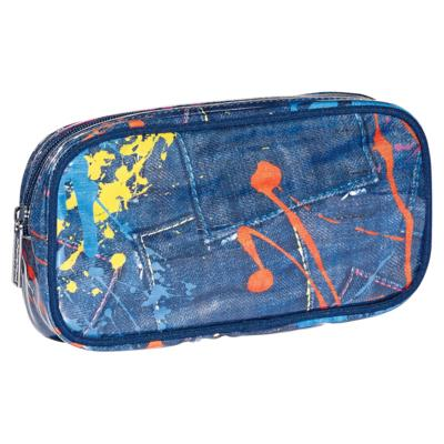 paint splatter cosmetic bag