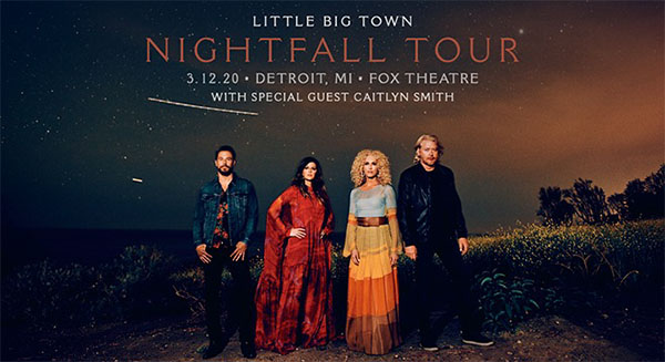 Little Big Town: Nightfall Tour Detroit