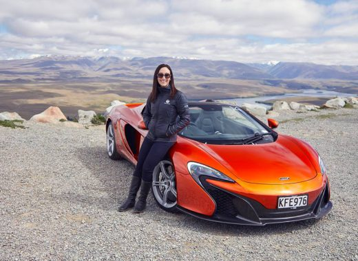 Jaclyn Trop and the McLaren 650S