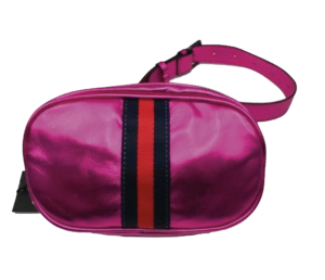 No. 22 metallic pink belt bag from 110 Couture