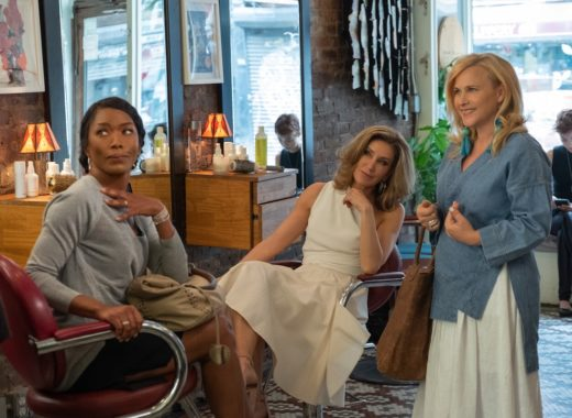 "Angela Bassett, Felicity Huffman and Patricia Arquette filiming ""Otherhood"""