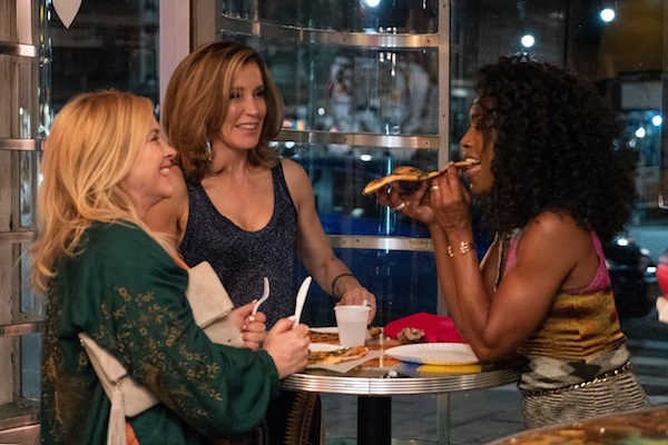 "Patricia Arquette, Felicity Huffman and Angela Bassett filming ""Otherhood"""