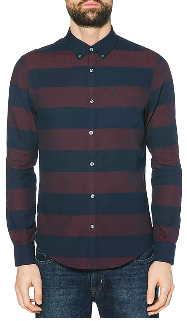 Penguin stripe button-down shirt from Untied On Woodward