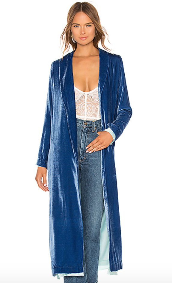 special discount of limited price stable quality For Love and Lemons Nadine Velvet Robe