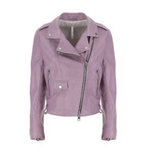 Purple leather jacket
