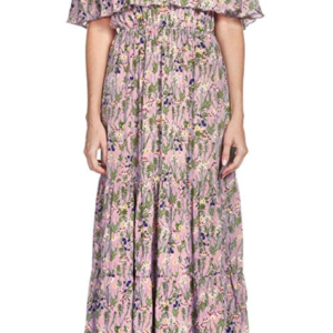 Elan Ruffled Off-Shoulder Maxi Dress