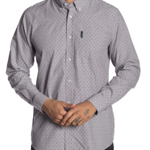 Ben Sherman grey dot button down
