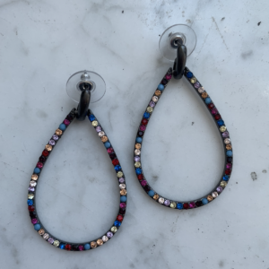 Rainbow Teardrop Hoops
