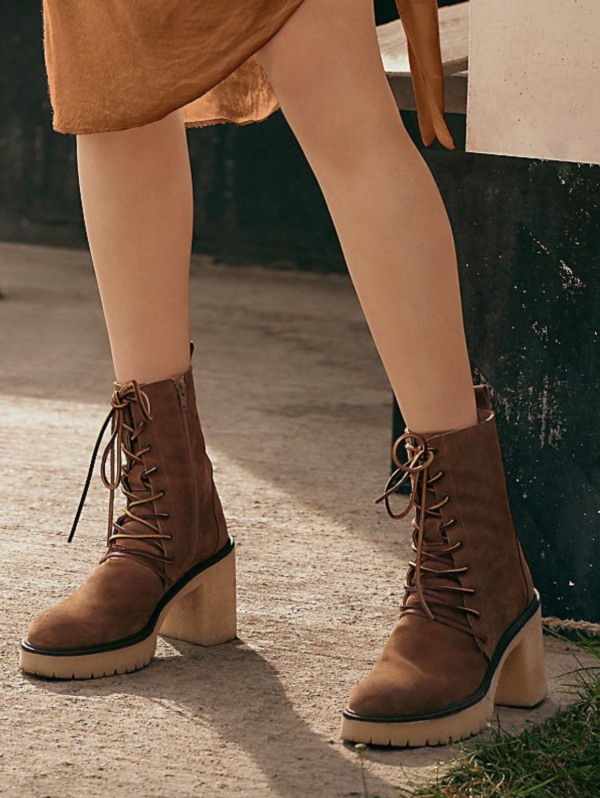Free People Dylan Lace up Bootie