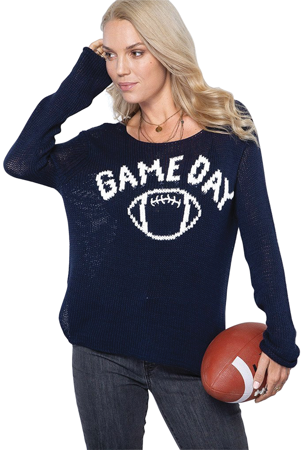 Wooden Ships game day sweater from Steele Angel