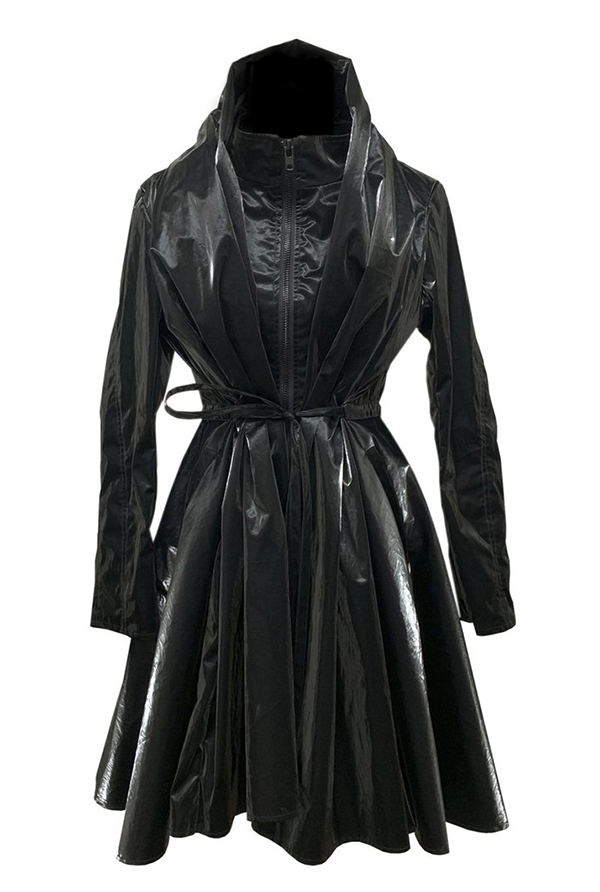 Heike black rain coat, $800, SHE