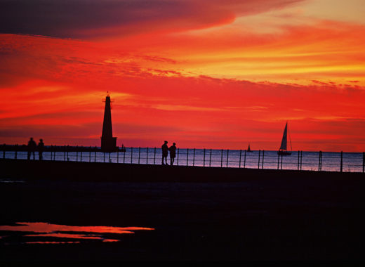 Sunset at Pier Muskegon Photo credit Experience Grand Rapids