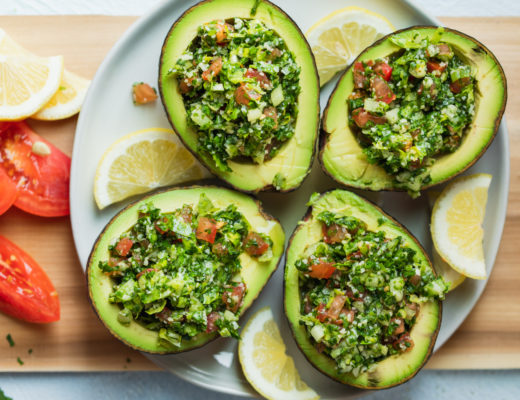 Tabbouleh Stuffed Avocados