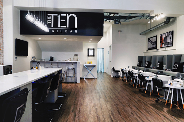 The TEN Nail Bar interior