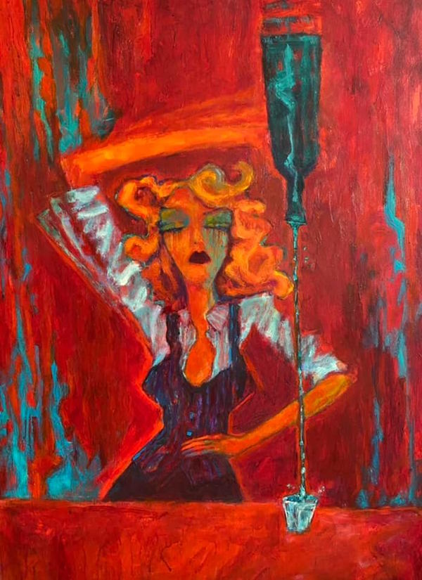 Artist Tony Roko is painting for a cause