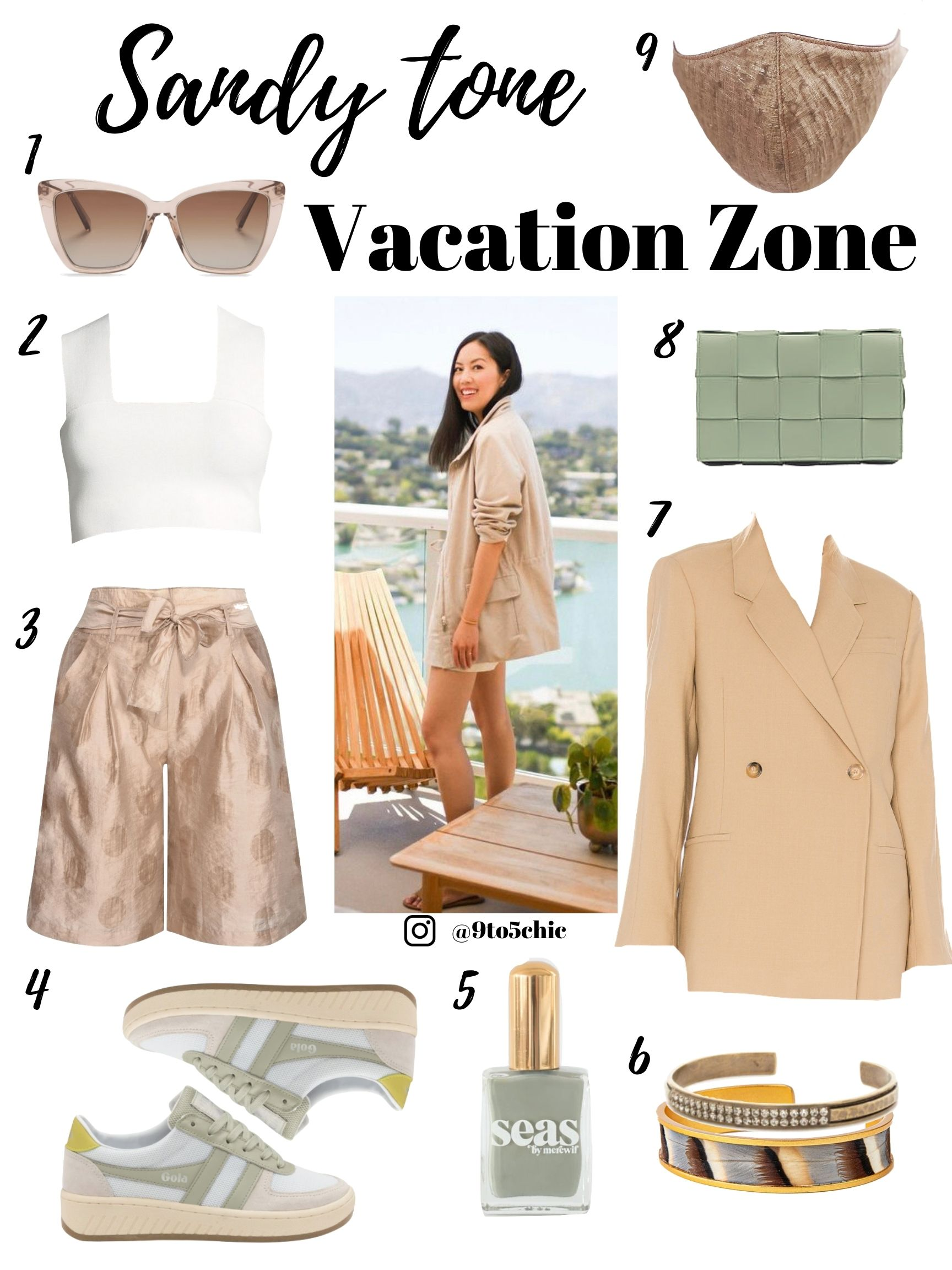 sandy tone outfit