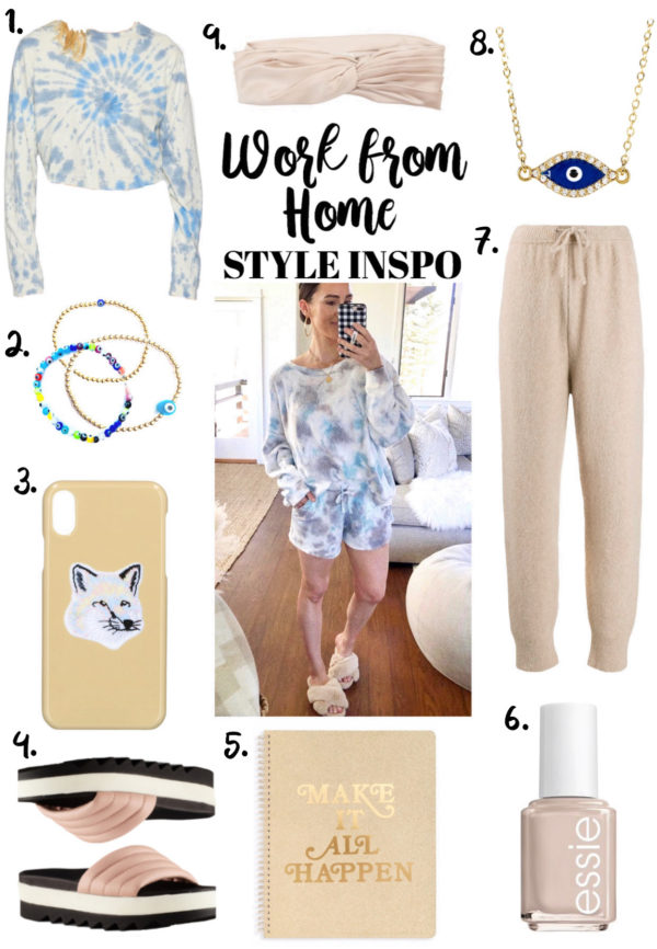 tie dye work from home outfit