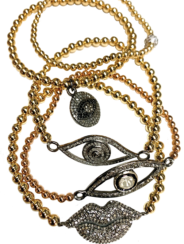 Arm Candy evil eye bracelets