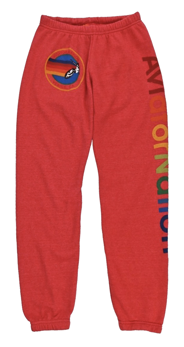 Aviator Nation sweatpants, $138, OnFemme by Lindsey's Kloset